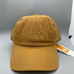 Timberland Mens Gold Embroidered Logo Baseball Cap